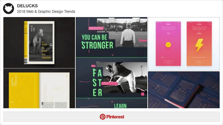 web graphic design trends 2018
