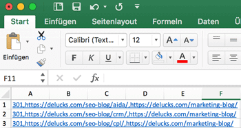 Excel 301 Redirects