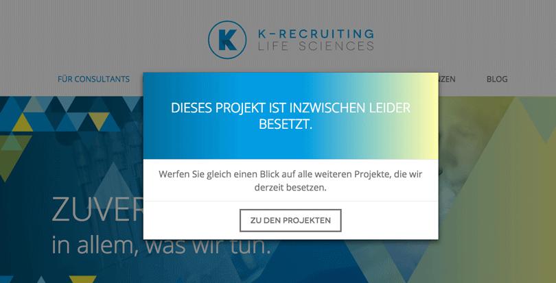 K-Recruiting Weiterleitung
